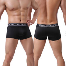 Mens Smooth Fit Boxer Brief Shorts Hipster Trunks Underwear Underpants Low Waist