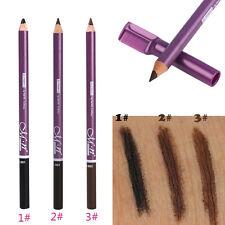 Imperméable Maquillage Durable Eyeliner Marron Crayon à Sourcils Brosse + Peigne