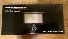 PRO LED VIDEO LIGHT, W228 Continuous Light Panel With Camera Mount And Filters