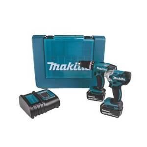 Makita Cordless Twin Pack Combi Drill Impact Driver DLX2336S 18V 2x3.0Ah Li-Ion