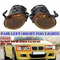 2PCs Amber Foglamp Fog Light Foglight For BMW E46 M3 E39 M5 M Sport Mtech II