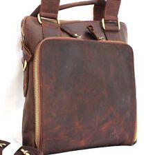 Genuine real Leather Shoulder Satchel Bag Messenger mans Design handbag retro IL