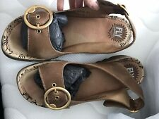 fly london sandals size 8 Brown