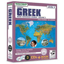 FSI: Modern Greek Basic Course 3 (3 CDs/Book) by Foreign Service Institute *NEW*