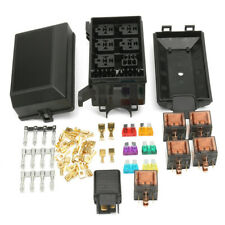 New listing Car Fuse Box 6 Relay Socket Holder 5Road Insurance Holder With 12V 80A 40A Relay