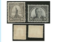 US stamps, 1931 Rototary issues of 1922-26 Designs, 696 and 697, MNH, OG, XF cen