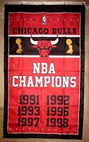 CHICAGO BULLS NBA CHAMPIONS 3x5 FEET VERTICAL FLAG BANNER Jordan Pippen Jackson