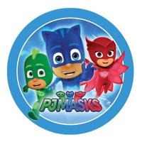 PJ Masks Cake Topper Edible Kids Birthday Party Decoration Round Image