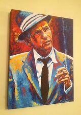 """Frank Sinatra"" Hand Embellished Canvas Art Print By Patrick J Killian"