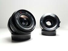 ~ Excelente ~ Tokina RMC 28mm F2.8 Lente Gran Angular Prime + Montaje doblador 2X Minolta MD