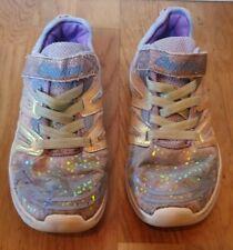 New listing SKECHERS DOUBLE DREAM UNICORN WISH GIRLS TRAINERS Shoes Glitter Purple Size UK 1
