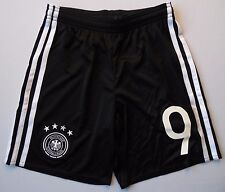 5+/5  GERMANY SHORTS #9 KIDS 9-10 YEARS ORIGINAL SOCCER FOOTBALL ADIDAS AA0145