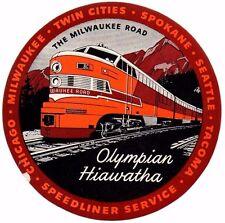 Great WW2 US Railway Olympian Hiawatha, Milwaukee Road Poster Stamp.C1942. UMM