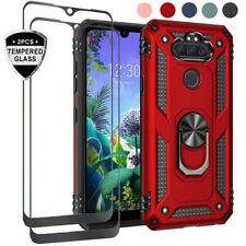 For LG Phoenix 5/Fortune 3/K8X 2020/Aristo 5 Shockproof Case+Full Tempered Glass