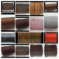 European Flat 100%  Leather Cord  3 and 4 mm Jewellery Craft many colours