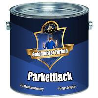 Goldmeister Farben PARKETTLACK farblos Holzversiegelung Dielenlack SEIDENMATT