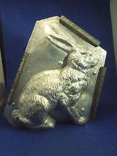 "Vintage 9"" Large Eppelsheimer Rabbit Easter Bunny Metal Chocolate Candy Mold"