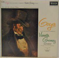 """Vicente Gomez """"Goya"""" [Decca DL 8236] Vinyl LP"""