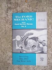 1957 Ford Service Forum Mechanic Auto Manual Servicing the 1957 Car Rear Axle  R