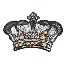 Sequin Crown Sticker Embroidery Patch Iron OnBadge Applique DIY Sewing Craft 1pc