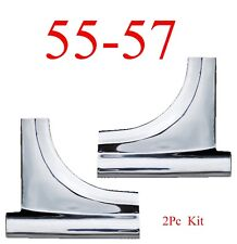 55 57 Chevy Bel Air Lower Windshield Molding Trim Set Stainless 150, 250, 56