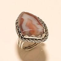 Natural Botswana Sardonyx Onyx Agate Ring 925 Sterling Silver Handmade Jewelry