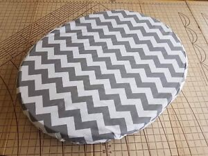Twin Pack Leander Cot Fitted Sheets Grey Chevron