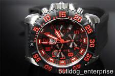 Mens Luminox A.3195 Colormark Navy Seal Black Red Swiss Chronograph Watch New