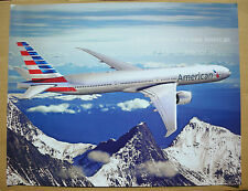 American Airlines Boeing 777-300ER Airplane New Fleet Livery Color Wall Poster