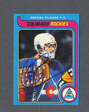 Michel Plasse signed Rockies 1979-80 Topps hockey card