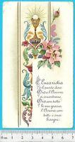EUCARESTIA - Holy Card 1913 - con dedica