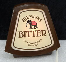 Rare Vintage Fremlins Bitter Draught Beer Lamp Light England Bar Display Sign