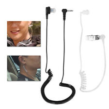 3.5mm Mono Jack Listen Only Acoustic Tube In-ear Earpiece Headset for Radios TB