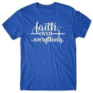 Christian T shirt FAITH OVER EVERYTHING - Novelty gift