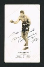 VERY RARE dated 1936 boxer PEDRO MONTANEZ inscribed signed boxing photo