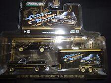 Greenlight Pontiac Firebird TA 1977 & C10 1971 w/ hauler Smokey and bandit 1/64