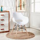 Eiffel fauteuil, plastique Chaise salle à manger avec accoudoirs, salon, en bois