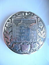 Antique 833 Silver LG Powder Compact Jerusalem c.1920 * Rare