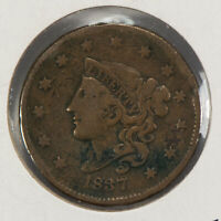 1837 1c Coronet Head Large Cent SKU-Y2540