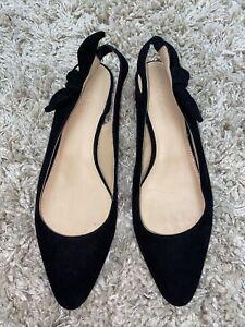 J Crew Black Suede Shoes Size 8.5