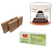 Sugaring Kit : Waxing Pot Sugar Paste 500g Wooden Tongue Spatulas Fabric Strips