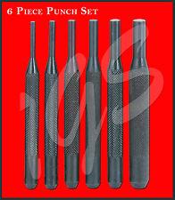 NEW Knurled 6 Piece RIFLE PISTOL SHOTGUN Punch Set 1/8 5/32 3/16 7/32 1/4 5/16