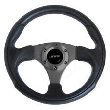 300mm M gamma Neri in Pelle Sport Racing Volante con Centro Nero