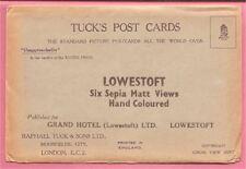 Tuck's Post Cards. Original envelope - Lowestoft Six Matt views of Grand Hotel.