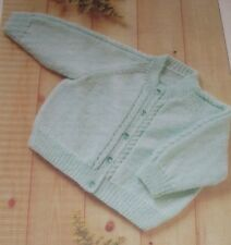 """Baby Cardigan with Cable Detail ~ (16-22"""") ~ 4ply Knitting Pattern ~ Easy Design"""