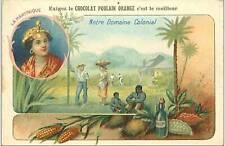 CHROMOS.CHOCOLAT POULAIN ORANGE.N°132.NOTRE DOMAINE COLONIAL.LA MARTINIQUE