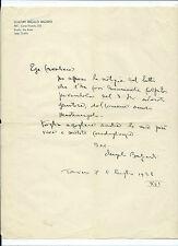 Lettera Condoglianze Carta Intestata Autografo Scultore Angelo Balzardi Torino