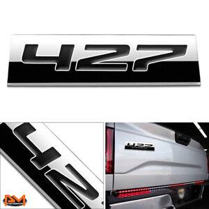 """427"" Polished Metal 3D Decal Black Emblem Exterior Sticker For GMC/Chevrolet"