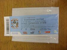 27/02/2010 BIGLIETTO: Coventry City V Scunthorpe uniti (SKY creazioni Lounge) delle Nazioni Unite.