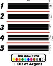 Stickers bandes réservoir moto autocollant  - 3 pièces - café racer - bobbers